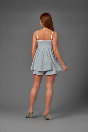 Женская пижама ЖП 038 (T) (Серый_горох на розовом) (Фото 2)