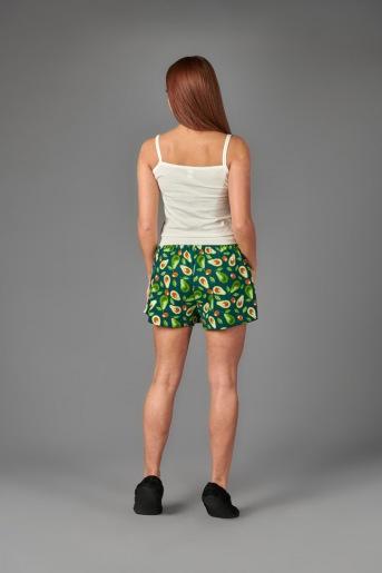 Женская пижама ЖП 042 (T) (Молочный_принт авокадо) (Фото 2)
