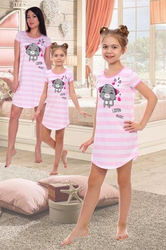 Сорочка Русалка детская (N) (Розовый) - Злата