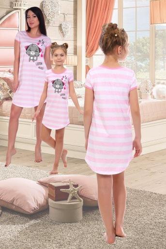 Сорочка Русалка детская (N) (Розовый) (Фото 2)
