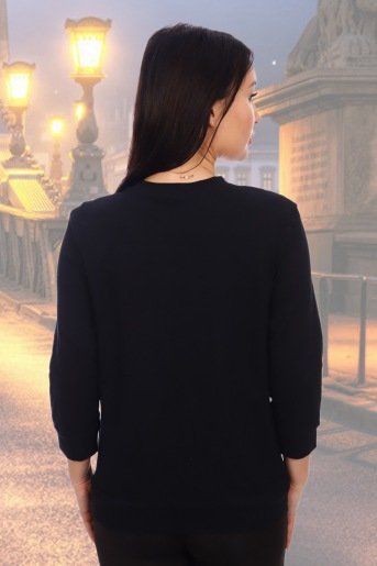 Блуза 10211 (N) (Черный) (Фото 2)