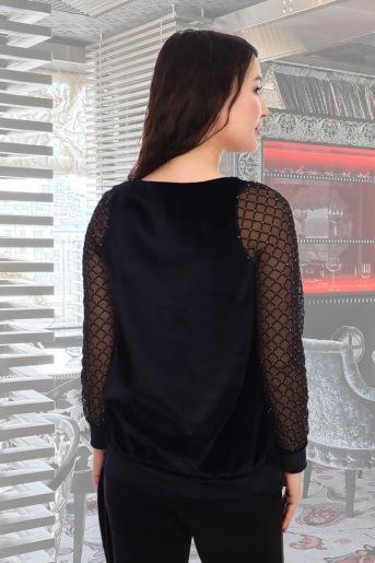 Блузка Бурлеск (N) (Черный) (Фото 2)