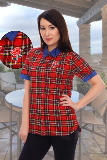 Блузка 3617 (N) (Красный) - Злата