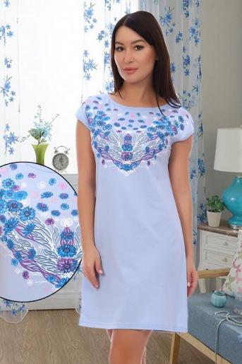 Сорочка Аквамарин (N) (Голубой) - Злата