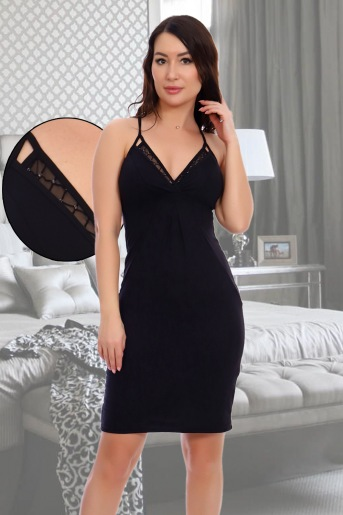 Сорочка Бажена (N) (Черный) - Злата