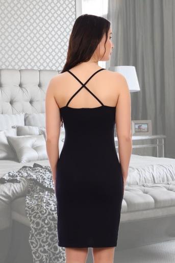 Сорочка Бажена (N) (Черный) (Фото 2)