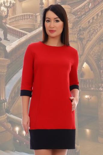 Платье 10459 (N) (Красный) - Злата