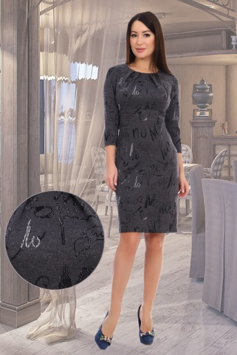 Платье Авиталь (N) (Серый) - Злата