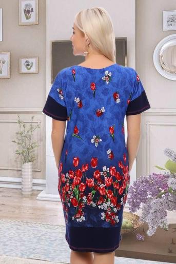 Платье 6838 (N) (Синий) (Фото 2)