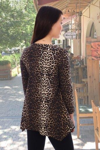 Блузка 10468 (N) (Леопард) (Фото 2)