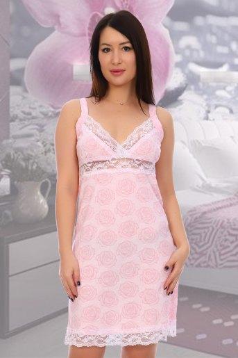 Сорочка Лейси (N) (Розовый) - Злата