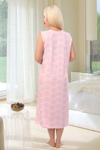 Сорочка Анфиса (N) (Розовый) (Фото 2)