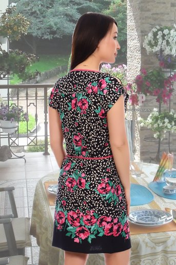 Платье 3959 (N) (Цветы) (Фото 2)