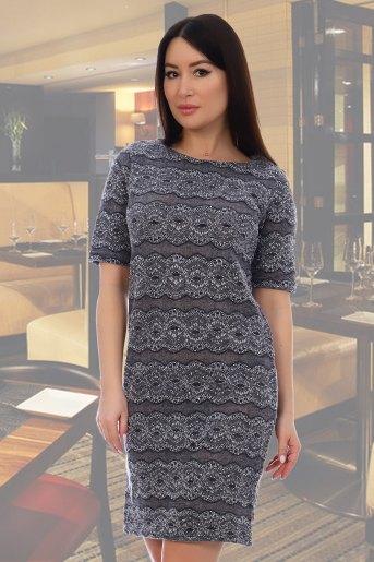 Платье 10323 (N) (Серый) - Злата