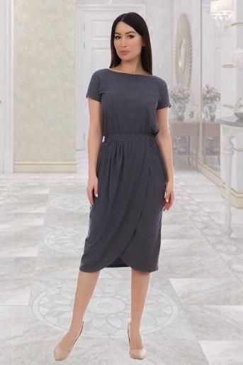 Платье 10469 (N) (Серый) - Злата
