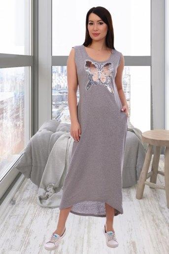 Платье 13305 (N) (Серый) - Злата