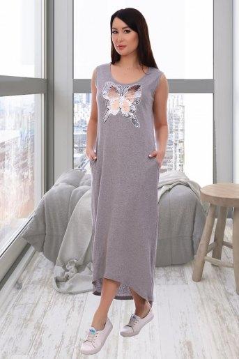 Платье 13305 (N) (Серый) (Фото 2)