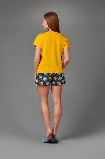 Женская пижама ЖП 022 (T) (Желтый_принт совята) (Фото 2)