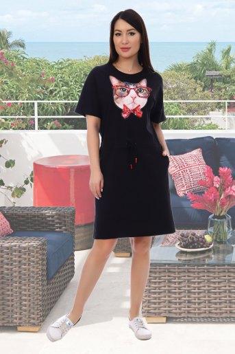 Платье Умник (N) (Черный) - Злата