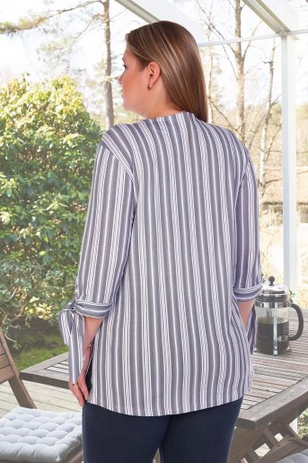 Блузка Фактура (N) (Серый) (Фото 2)