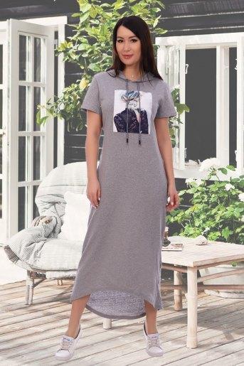 Платье 13304 (N) (Серый) - Злата