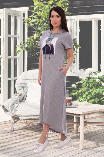 Платье 13304 (N) (Серый) (Фото 2)