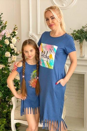Платье 7100 (N) (Индиго) (Фото 2)