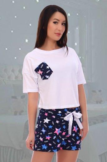 Пижама Звездопад (N) (Белый) - Злата