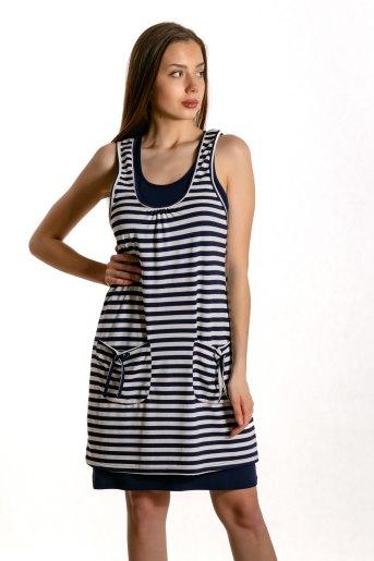 Платье 10814 (N) (Синий) - Злата