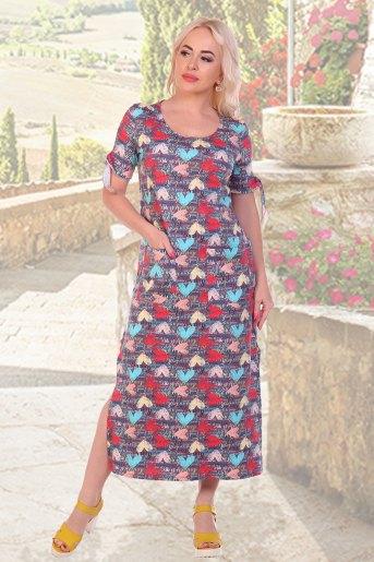 Платье 10480 (N) (Сердечки) - Злата
