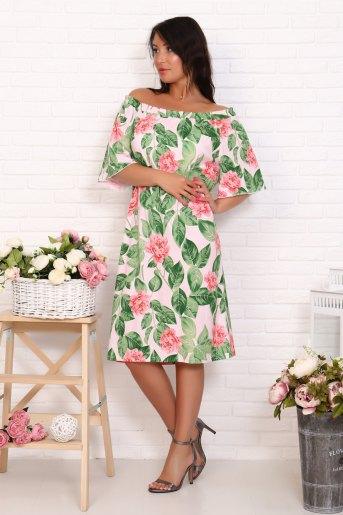Платье 10490 (N) (Цветы) - Злата