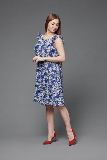 Платье П 703/1 (T) (Синий) (Фото 2)
