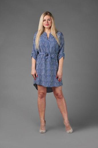 Платье П 684/1 (T) (Принт волнистые линии) (Фото 2)