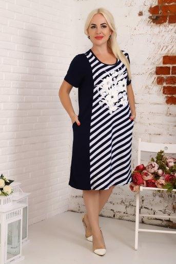 Платье 4841 (N) (Синий) - Злата