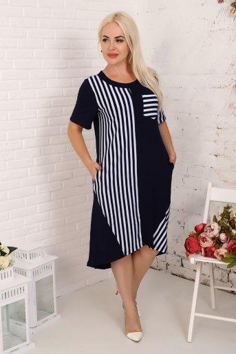 Платье 4842 (N) (Синий) - Злата