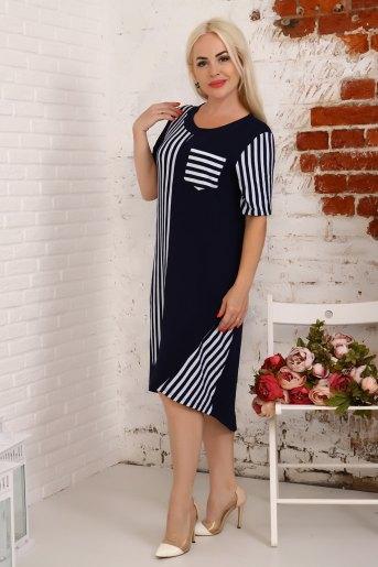 Платье 4842 (N) (Синий) (Фото 2)