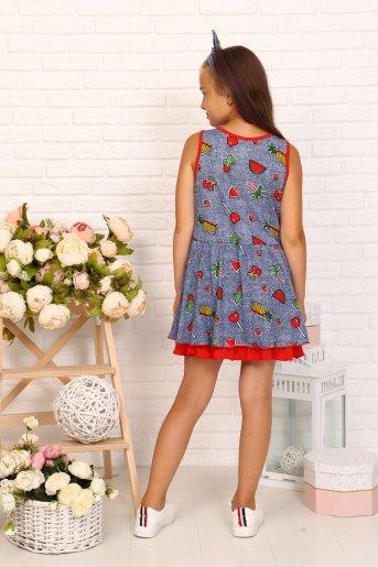 Платье 5077 детское (N) (Синий) (Фото 2)