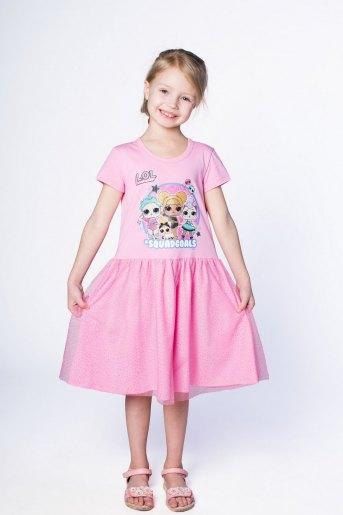 Платье 22704 детское (N) (Розовый) - Злата
