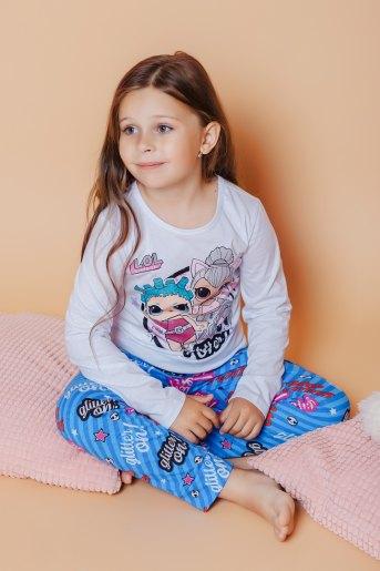 Пижама 22719 детская (N) (Бело-голубой) - Злата
