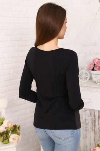 Блуза 10495 (N) (Черный) (Фото 2)