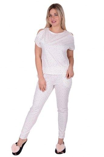 Женская пижама ЖП 003 (T) (Бежевые звезды) - Злата