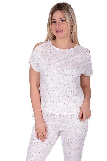 Женская пижама ЖП 003 (T) (Бежевые звезды) (Фото 2)