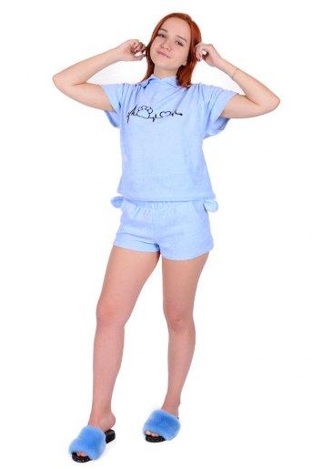 Домашний костюм ЖК 009 (T) (Голубой) (Фото 2)