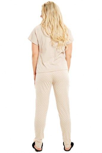 Женская пижама ЖП 010/1 (T) (Бежевый с горохом) (Фото 2)