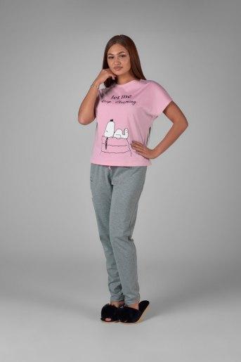 Женская пижама ЖП 010/5 (T) (Розовый_серый) - Злата