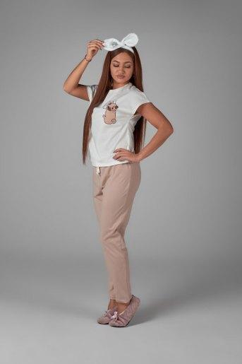 Женская пижама ЖП 010/4 (T) (Бежевый_молочный) - Злата