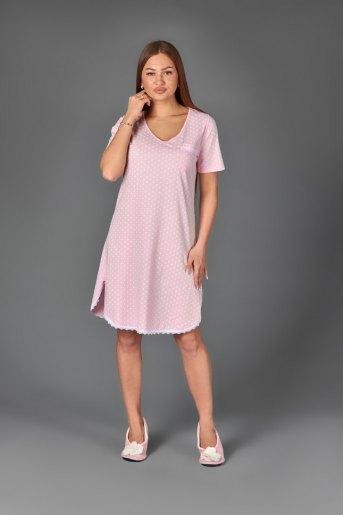 Женская сорочка ЖС 024 (T) (Горох на розовом) - Злата