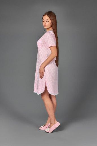 Женская сорочка ЖС 024 (T) (Горох на розовом) (Фото 2)