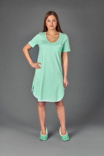 Женская сорочка ЖС 024 (T) (Горох на мятном) - Злата