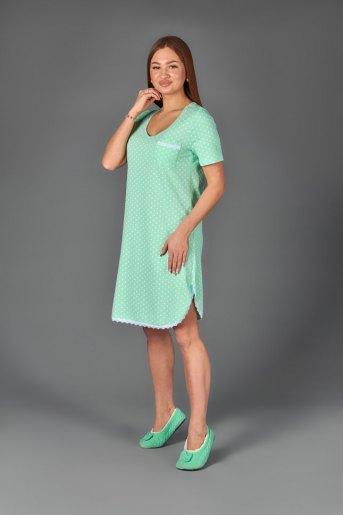 Женская сорочка ЖС 024 (T) (Горох на мятном) (Фото 2)